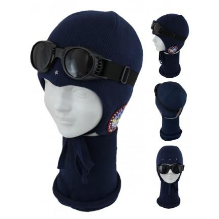 Комплект детский SELFIE KPL2m0 AVIATOR 419307 ACR-SHH (SHELTER)+(снуд двойной) - Фото